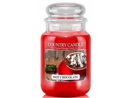 Country Candle - vonná svíčka HOT CHOCOLATE (Horká čokoláda) 652 g