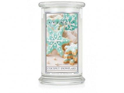 Kringle Candle - vonná svíčka COCONUT SNOWFLAKE (Kokosová vločka) 624 g