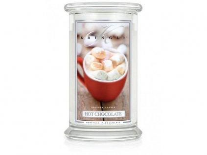 Kringle Candle - vonná svíčka HOT CHOCOLATE (Horká čokoláda) 624 g