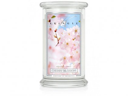 Kringle Candle - vonná svíčka CHERRY BLOSSOM (Rozkvetlá třešeň) 624 g