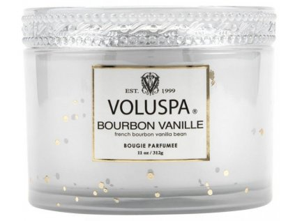 29822 3 voluspa vermeil bourbon vanille 11 oz corta maison glass candle w lid boxed