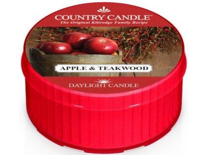 Country Candle - votivní svíčka APPLE AND TEAKWOOD (Jablko a týkové dřevo) 42 g