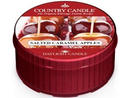 Country Candle - votivní svíčka SALTED CARAMEL APPLES (Jablka ve slaném karamelu) 42 g