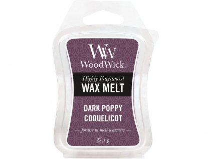 WoodWick - vonný vosk DARK POPPY (Tmavý mák) 22 g