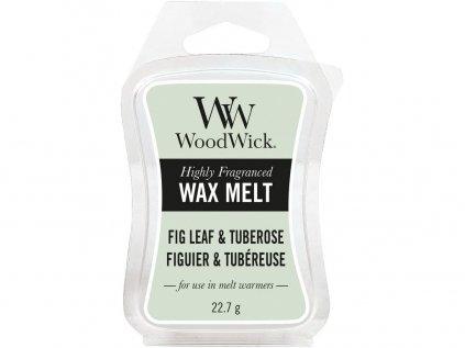 WoodWick - vonný vosk FIG LEAF &TUBEROSE (Fíkové listy a tuberosa) 22 g