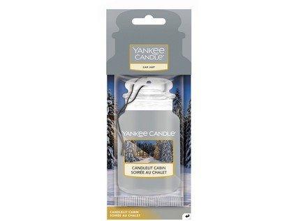 Yankee Candle - papírová visačka CANDLELIT CABIN (Chata ozářená svíčkou)