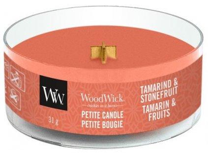 WoodWick - vonná svíčka TAMARIND & STONEFRUIT (Tamarind a Peckovice) 31 g