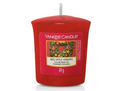 YC Red Apple Wreath votiv ořez