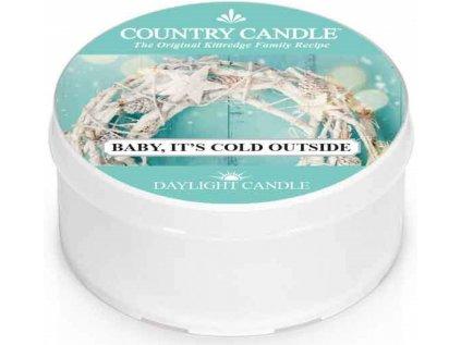 Country Candle - vonná svíčka BABY, IT'S COLD OUTSIDE (Zlato, venku je chladno) 42 g
