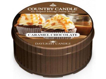 Country Candle - vonná svíčka CARAMEL CHOCOLATE (Karamelová čokoláda) 42 g