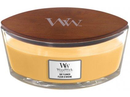 WoodWick - vonná svíčka OAT FLOWER (Ovesný květ) 453,6g