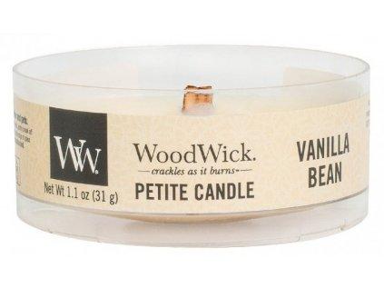 WoodWick - vonná svíčka VANILLA BEAN (Vanilkový lusk) 31 g