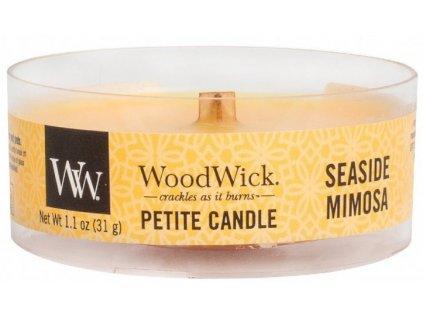 WoodWick - vonná svíčka SEASIDE MIMOSA (Přímořská mimóza) 31 g