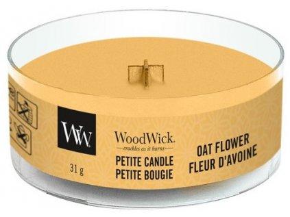 WoodWick - vonná svíčka OAT FLOWER (Ovesný květ) 31 g