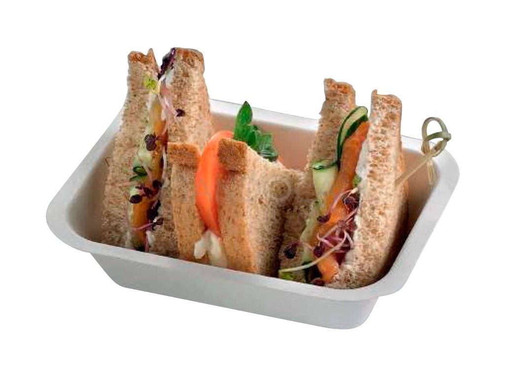 Q2024 Leone bio cellulose pulp chips tray jednorazovy hluboky tacek 1