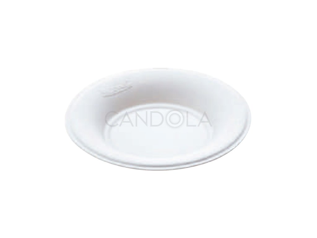 Q2037 Leone bio cellulose pulp round plate fingerfood kulata miska jednorazova 1