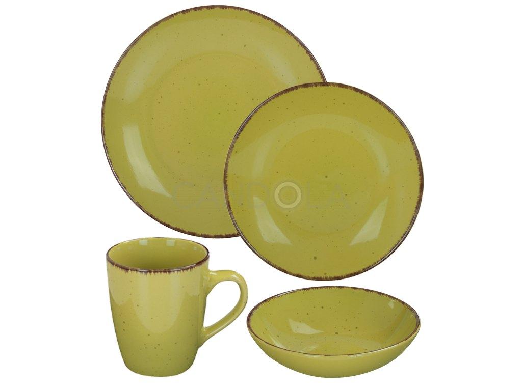 2559 1 jidelni souprava 16 dilu pottery zelena