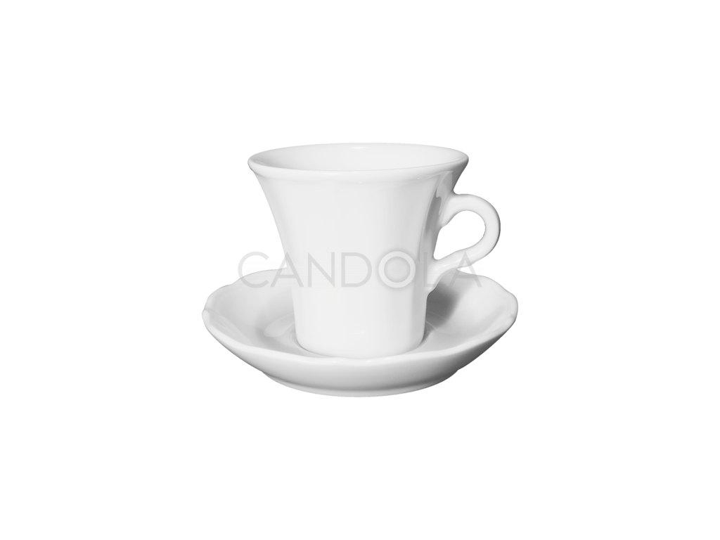 Claudia šálek na caffè latte ačokoládu spodšálkem Claudia 230 ml