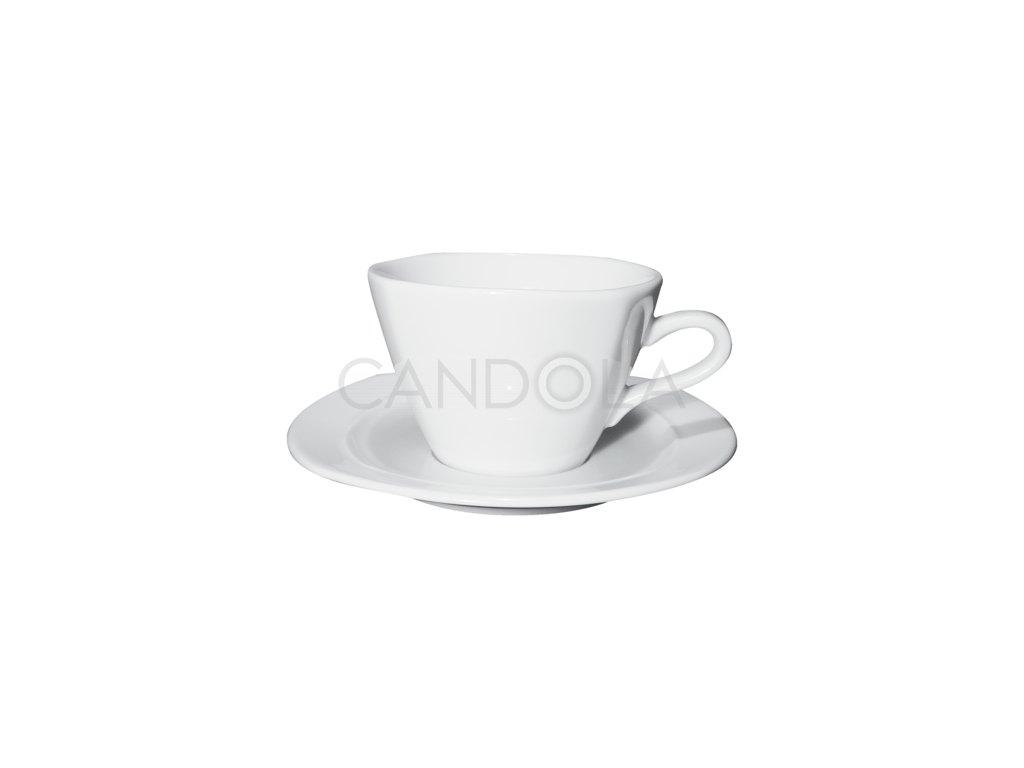Oggi šálek na caffè latte ačokoládu spodšálkem Oggi 320ml