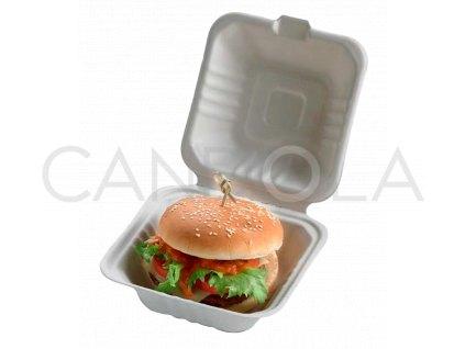 Q2022 Leone bio cellulose pulp hamburger box jednorazovy 1