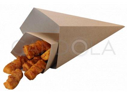 H0701 H0702 Leone street food paper chip cone papirovy kornout