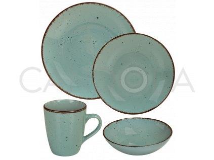 2553 jidelni souprava 16 dilu pottery modra