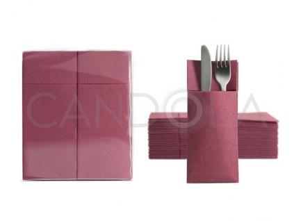 chic-soft-point-ubrousky-32-x-38-cm-burgundy-50-ks-52117-309