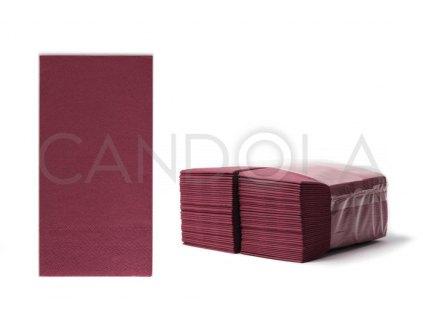 chic-tissue-ubrousky-2-vrstve-slozene-33-x-33-cm-burgundy-80-ks-50410-309