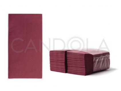 chic-tissue-ubrousky-2-vrstve-slozene-38-x-38-cm-burgundy-80-ks-52315-309