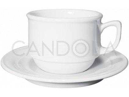 Belem stohovatelný šálek nacaffèlatte ačokoládu spodšálkem Belem 350 ml
