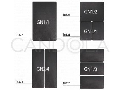 T8320 Leone black melamine tray gastronorm GN cerny servirovaci podnos melamin