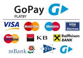 Přijímané karty pro platební bránu GoPay