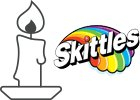 Skittles Candles