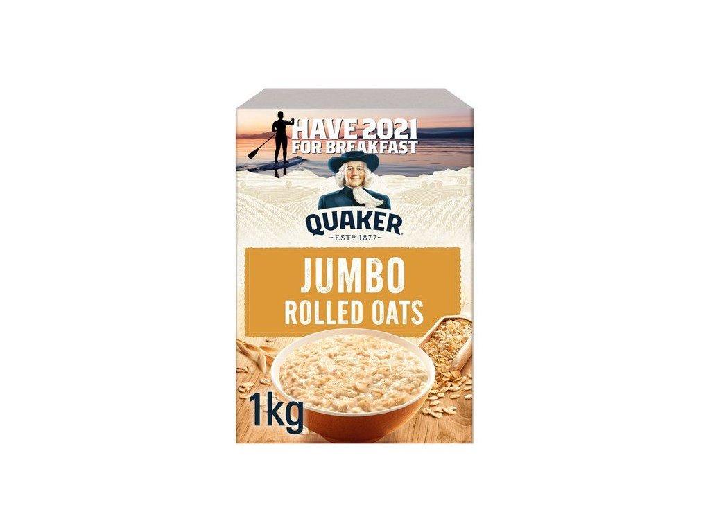 quaker jumbo rolled porridge oats 1kg 7069 p