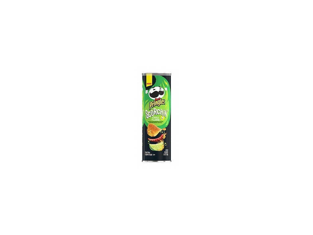 pringles scorchin chili and lime 158g