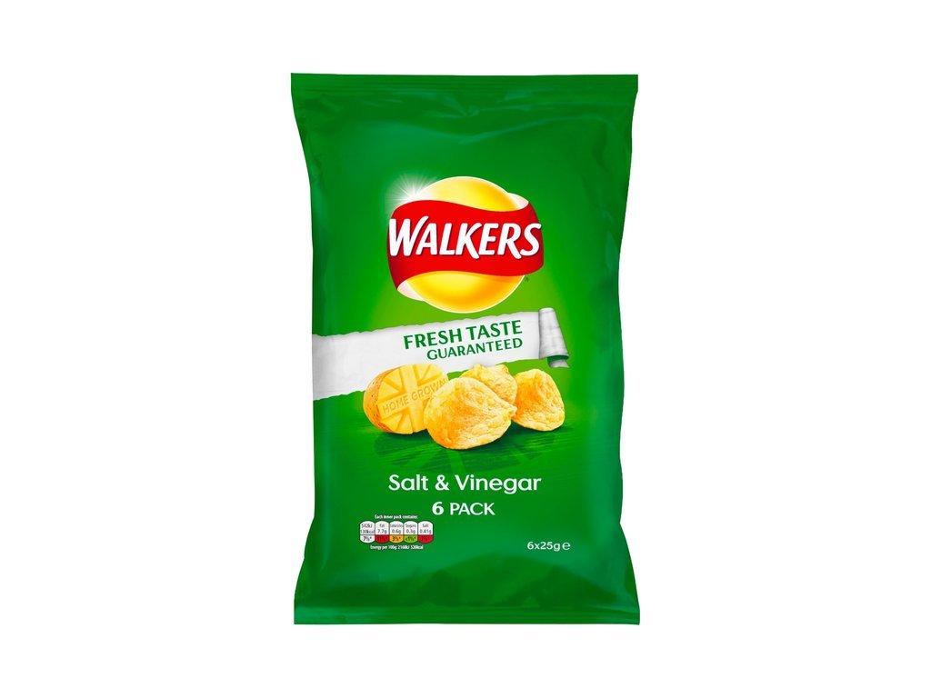 Walkers Salt Vinegar Crisps 6 Pack