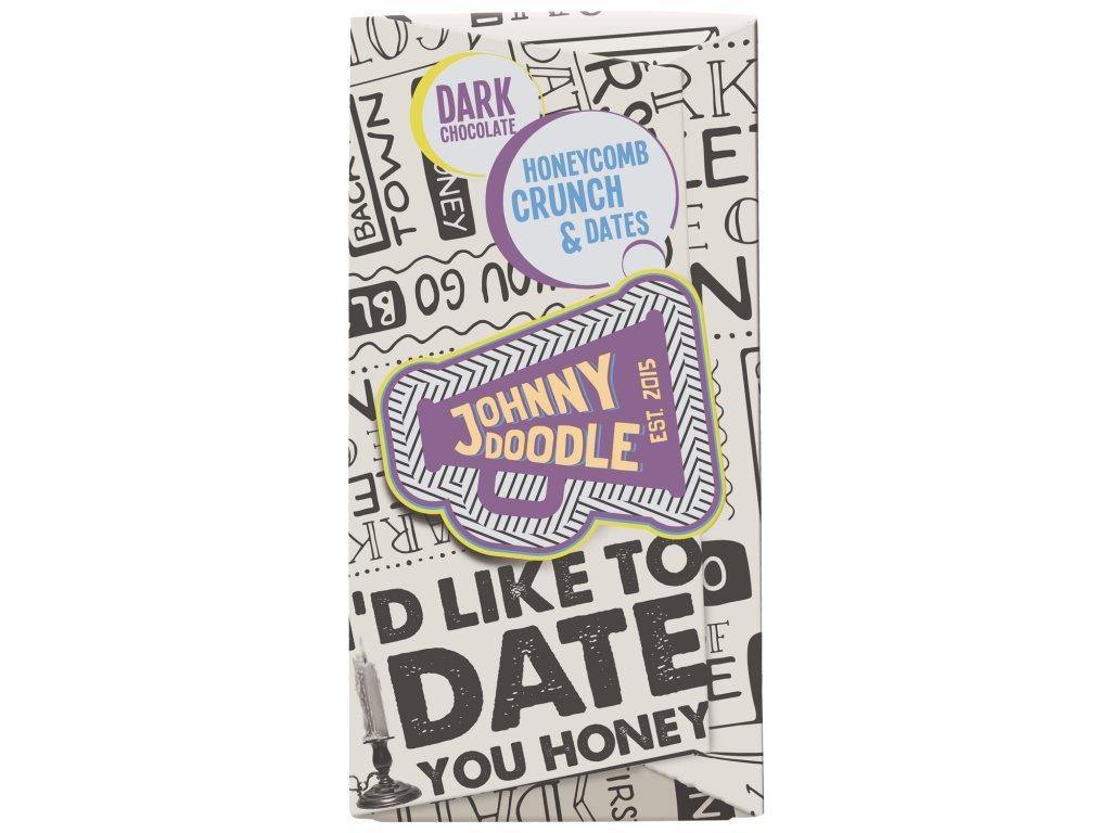 Johnny Doodle Dark Honeycomb Crunch a Dates 180g