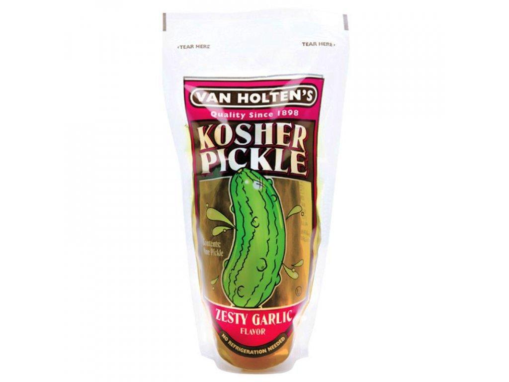 van holtens jumbo kosher pickle zesty garlic 800x800