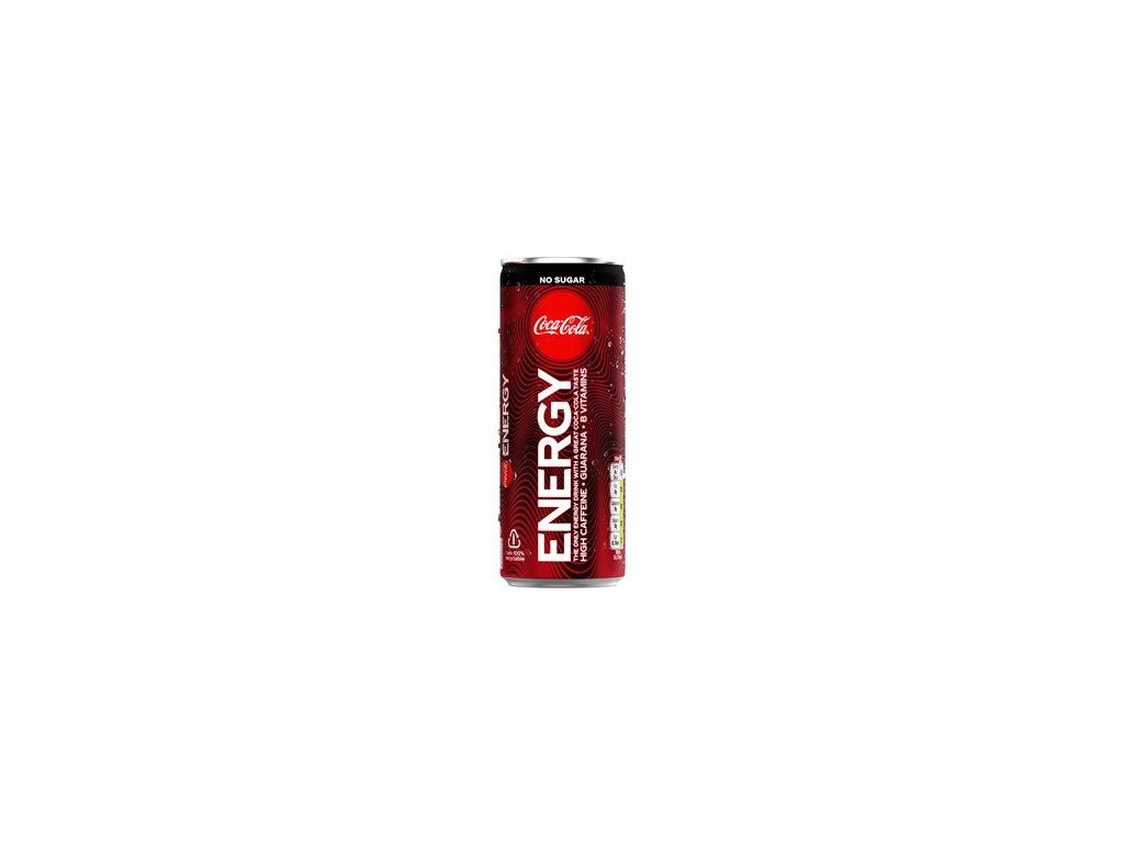 Coca Cola Energy zero sugar lead