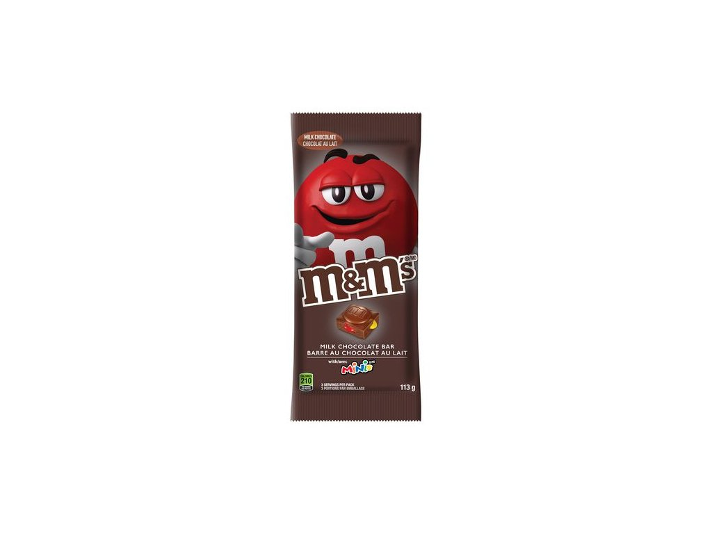 M&M's Milk Chocolate Bar With Minis 113g