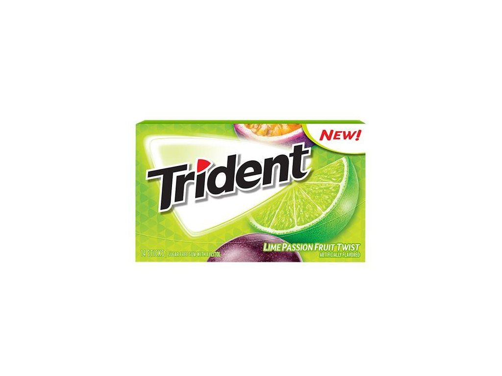 all city candy trident lime passionfruit twist suger free gum 14 stick pack gumbubble gum mondelez international 953736 600x