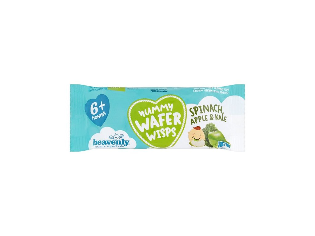 Heavenly Org Wafer Wisps Spinach Apple & Kale 14g