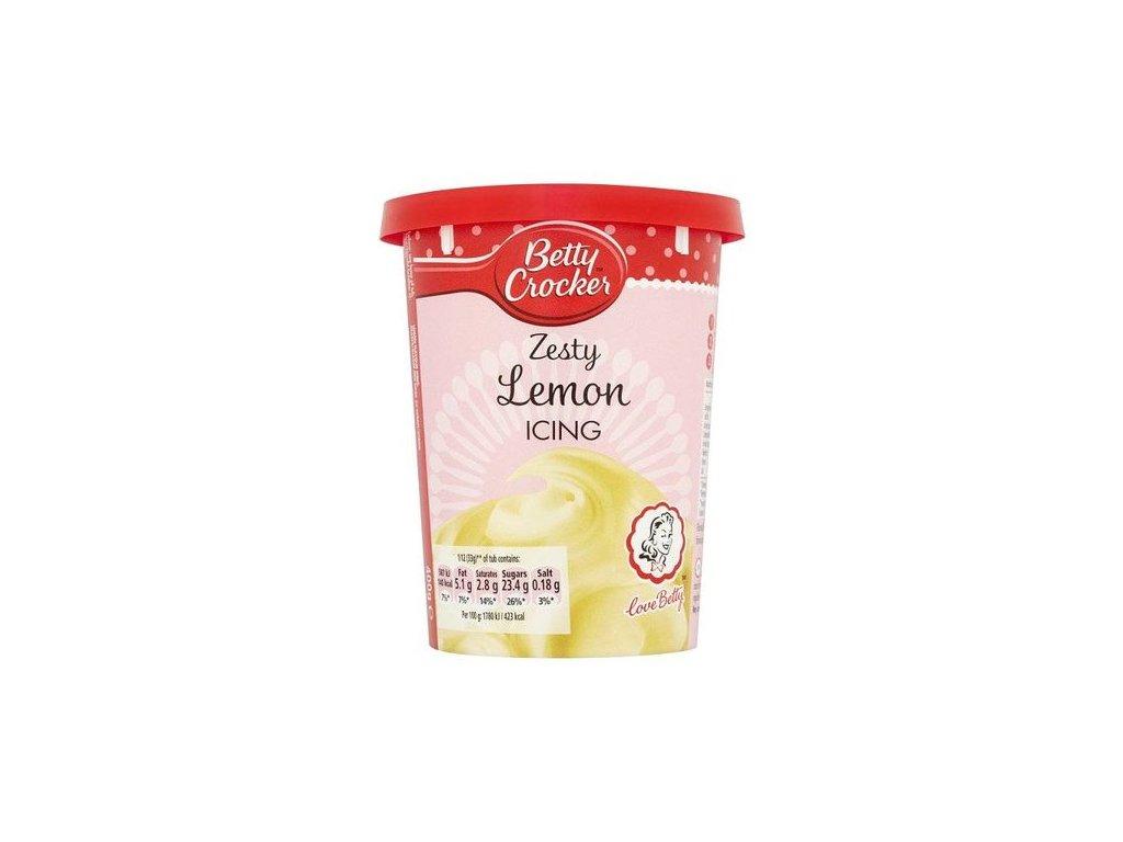betty crocker zesty lemon icing 400g