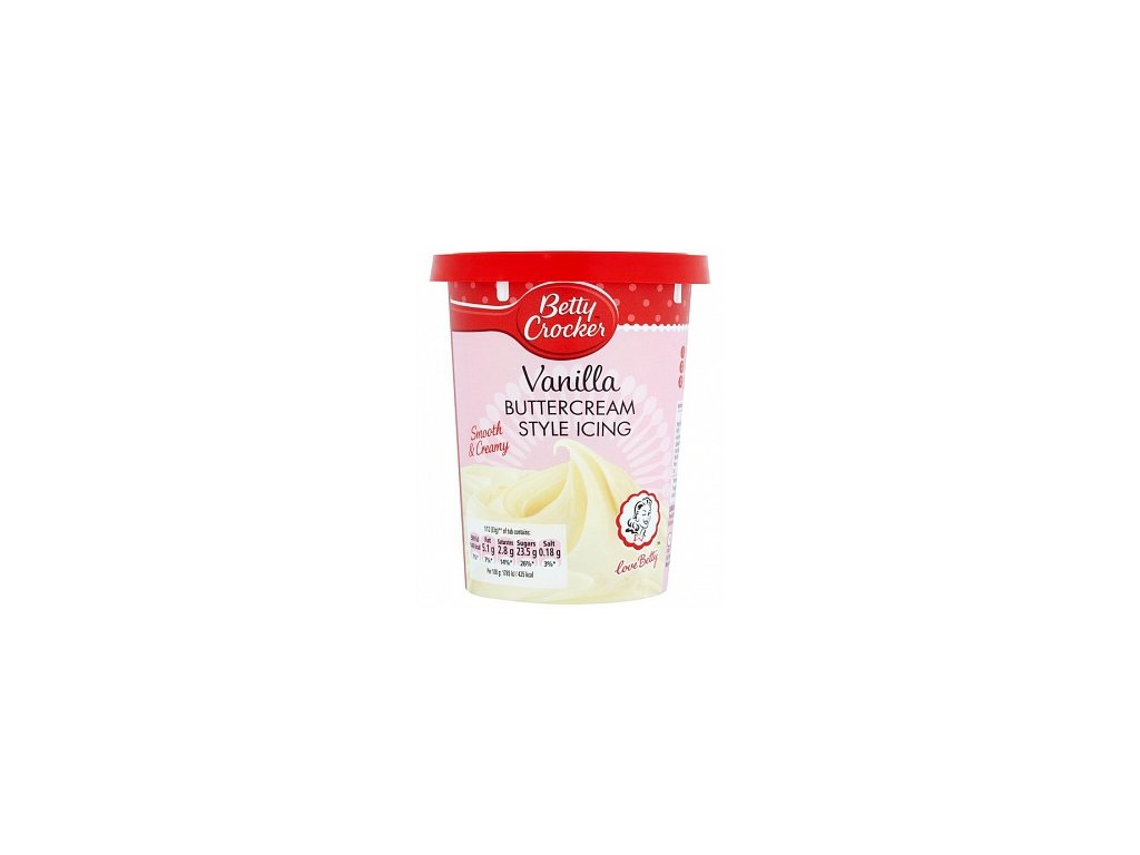 betty crocker vanilla buttercream style icing 400g t