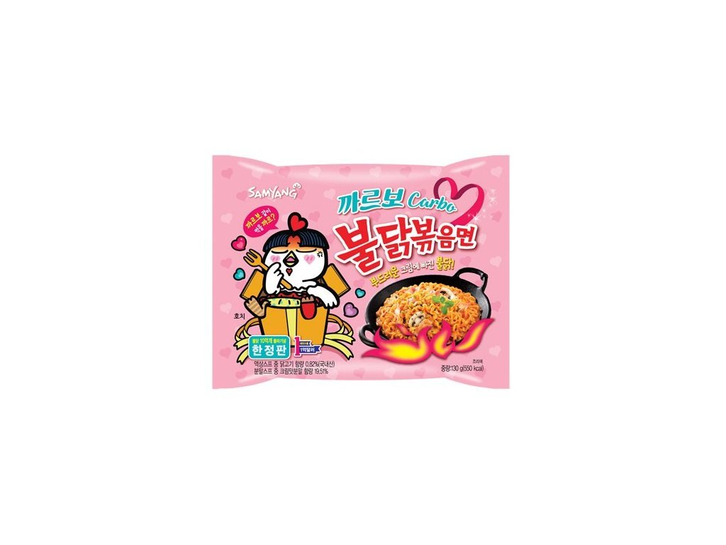 samyang carbo fried spicy chicken noodle 130g