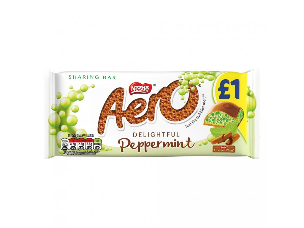 Aero Bubbly Peppermint 36g