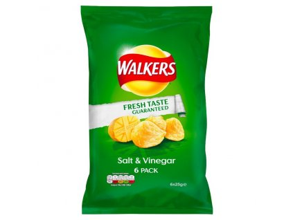Walkers Salt Vinegar Crisps 6 Pack