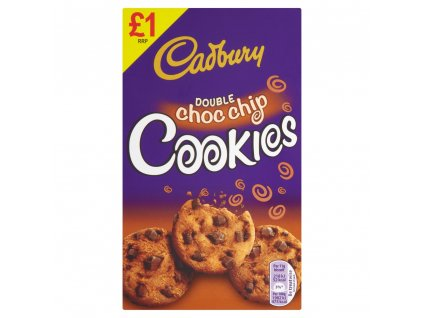 Cadburys Double Chocolate Chip Cookies 150g