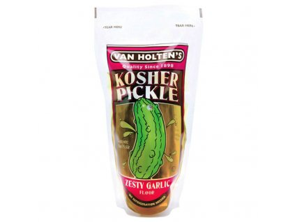 van holtens jumbo kosher pickle zesty garlic 800x800