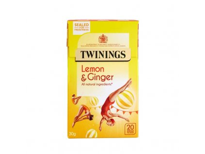 twinings lemon ginger 20 envelope tea bags 356 p